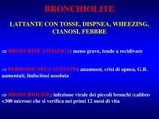 BRONCHIOLITE