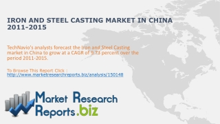 Iron and Steel Casting Market in China 2011-2015