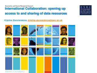 International Collaboration: opening up access to and sharing of data resources