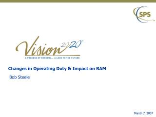 Changes in Operating Duty  Impact on RAM
