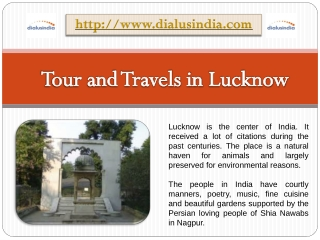 Tour and Travels company in Lucknow