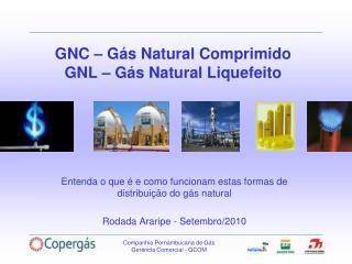 GNC   G s Natural Comprimido GNL   G s Natural Liquefeito