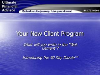 Your New Client Program