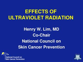 EFFECTS OF  ULTRAVIOLET RADIATION