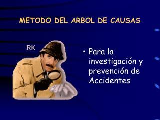 METODO DEL ARBOL DE CAUSAS