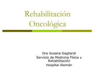 Rehabilitaci n Oncol gica