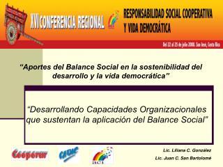 Aportes del Balance Social en la sostenibilidad del desarrollo y la vida democr tica