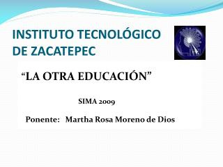INSTITUTO TECNOL GICO DE ZACATEPEC
