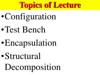 Topics of Lecture