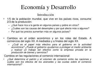 Econom a y Desarrollo