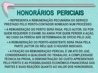 HONOR RIOS  PERICIAIS