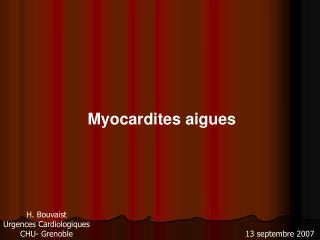 Myocardites aigues