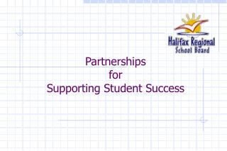 Partnerships  for  Supporting Student Success