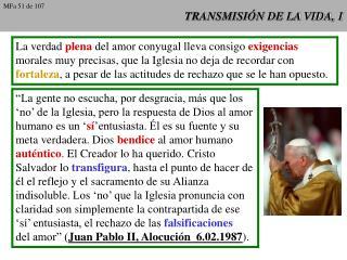 TRANSMISI N DE LA VIDA, 1