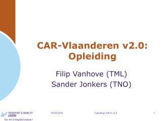 CAR-Vlaanderen v2.0: Opleiding