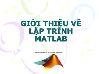 GII THIU V LP TR NH MATLAB