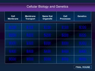 Cellular Biology and Genetics