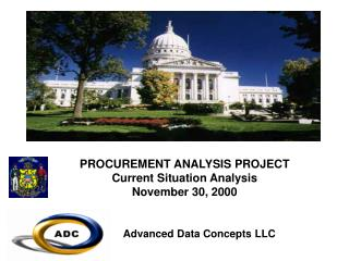 PROCUREMENT ANALYSIS PROJECT Current Situation Analysis November 30, 2000