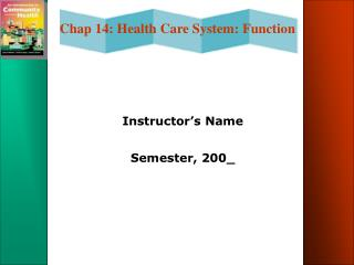 Instructor s Name  Semester, 200_