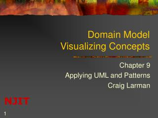 Domain Model  Visualizing Concepts