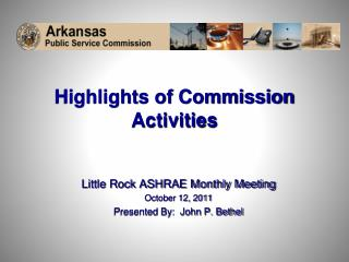 Highlights of Commission Activities