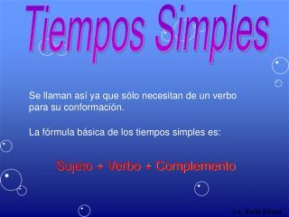 Tiempos Simples