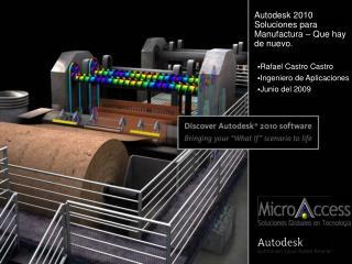 Autodesk 2010  Soluciones para Manufactura   Que hay de nuevo.