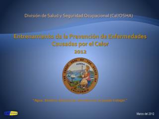 Divisi n de Salud y Seguridad Ocupacional Cal
