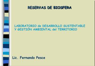 RESERVAS DE BIOSFERA