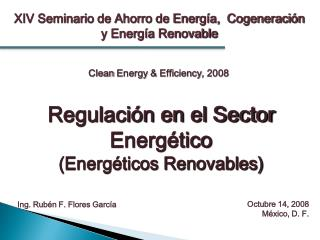 XIV Seminario de Ahorro de Energ a,  Cogeneraci n y Energ a Renovable