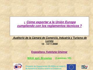 C mo exportar a la Uni n Europa  cumpliendo con los reglamentos t cnicos      Auditorio de la C mara de Comercio, Indu