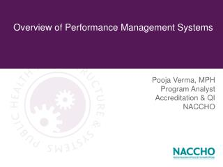 Overview of Performance Management Systems