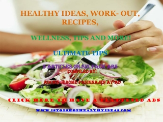 Healthy Ideas, Work out, Recipes, books, wellness, tips