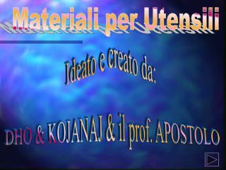 Materiali per Utensili