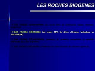 LES ROCHES BIOGENES