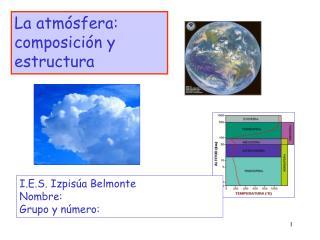La atm sfera: composici n y estructura