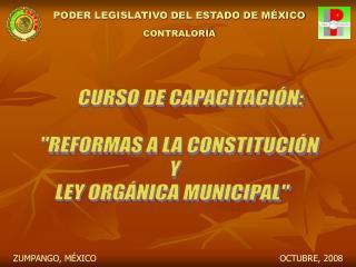 PODER LEGISLATIVO DEL ESTADO DE M XICO CONTRALOR A