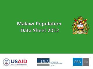 Malawi Population  Data Sheet 2012