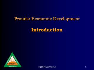 Proutist Economic Development  Introduction