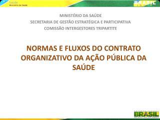 NORMAS E FLUXOS DO CONTRATO ORGANIZATIVO DA A  O P BLICA DA SA DE