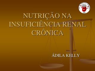 NUTRI  O NA INSUFICI NCIA RENAL CR NICA