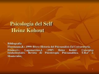 Psicolog a del Self Heinz Kohout