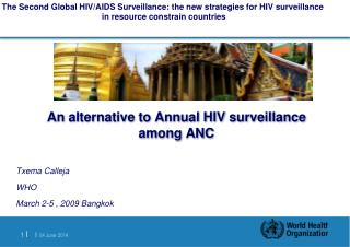 An alternative to Annual HIV surveillance among ANC