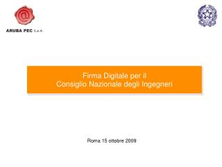 Roma 15 ottobre 2009