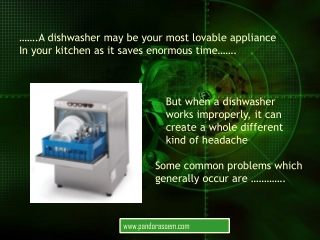 Common Dishwasher Problems and Troubleshooting