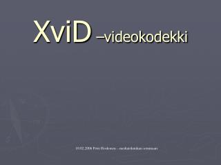 XviD  videokodekki