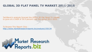 Global 3D Flat Panel TV Market 2011-2015