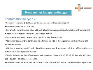 Programmer les apprentissages