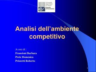 Analisi dell ambiente competitivo