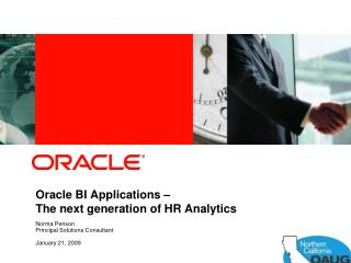 Oracle BI Applications    The next generation of HR Analytics